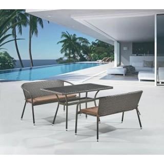 Комплект мебели из искусственного ротанга T286A/S139A-W53 Brown