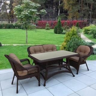 Комплект плетеной мебели T130Br/LV520BB-Brown_Beige