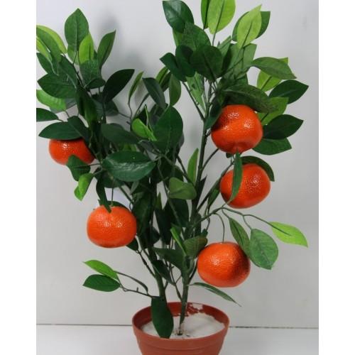 Мандарин Искусственное дерево в кашпо купить в Краснодаре