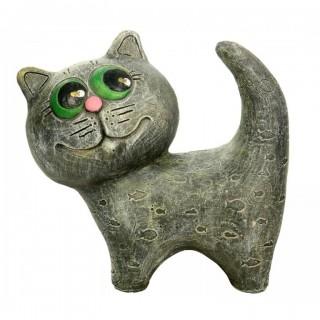 Котёнок однотонный Садовая фигура