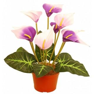 Искусственные цветы Калла в кашпо