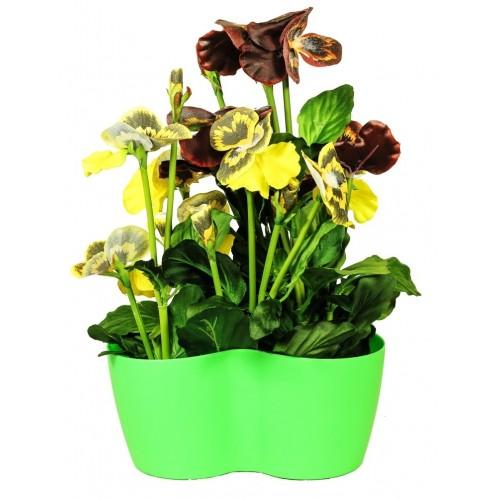 Анютины глазки Искусственные цветы купить в Краснодаре