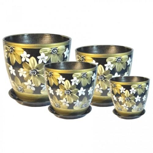 РС 02 Бутон комплект керамических горшков купить в Москве