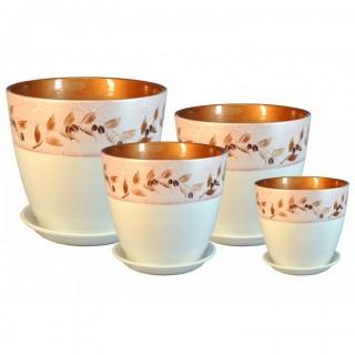Комплект керамических горшков Бутон РС 11