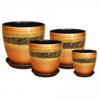 Комплект керамических горшков Бутон РС 26