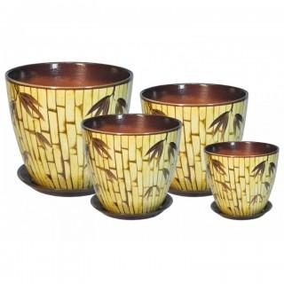 Комплект керамических горшков Бутон РС 33