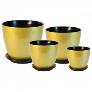 Комплект керамических горшков Бутон ГЛ 17