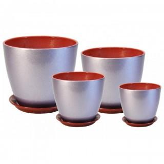 Комплект керамических горшков Бутон ГЛ 19