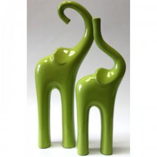Фигурка керамическая Слон большой  F 2502 J 02 Зеленый