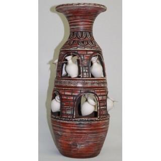 98-022 ВАЗА ГОНЧАРНАЯ керамическая Домик