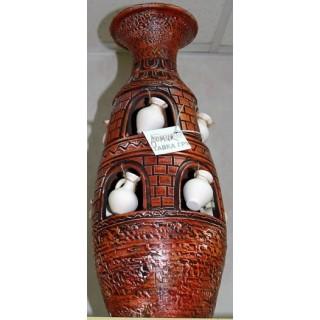 98-024 ВАЗА ГОНЧАРНАЯ керамическая Домик