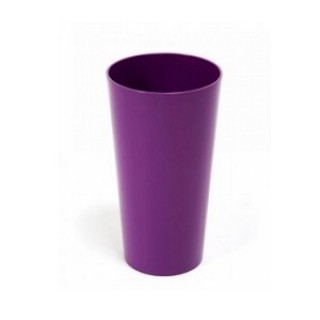 ГОРШОК ЛИЛИЯ Фиолетовый с вкладкой 14*26 см.