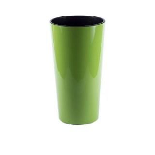 ГОРШОК ЛИЛИЯ Зеленый с вкладкой 14*26 см.