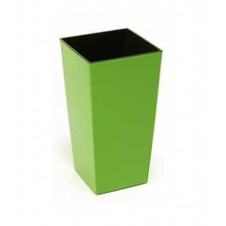 ГОРШОК ФИНЕЗИЯ Зелёный с вкладышем 19*36 см.
