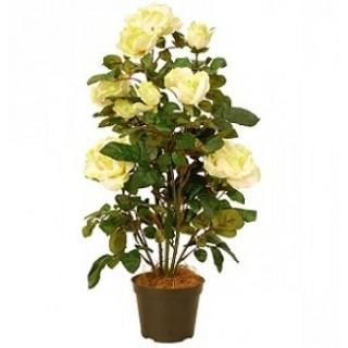 Искусственное растение РОЗА в кашпо