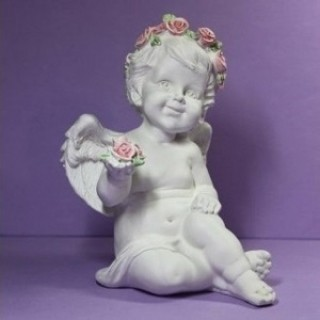 Силиконовая форма Ангел с розой в руке