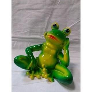 Садовая фигура Лягушка сидит