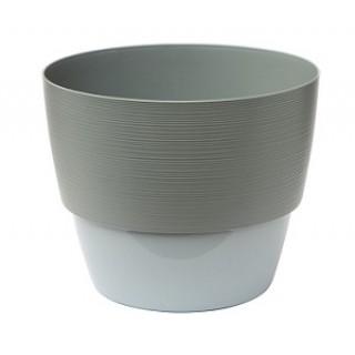 ВАЛЕНСИЯ Серый муссон + Серый горшок с прикрепляемым поддоном. Продажа коробкой
