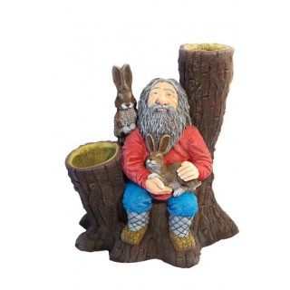 ДЕД МАЗАЙ (ЦВЕТНИК) Садовая скульптура
