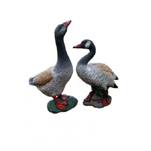 Садовая фигура Гуси, Птицы- серия садовых фигур, Садовые скульптуры