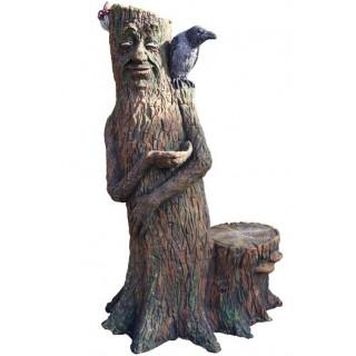 ВОРОН НА ПНЕ Садовая скульптура