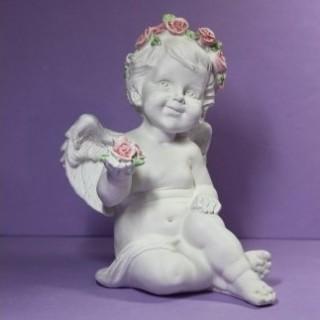 Ангел с розой в руке Садовая фигура