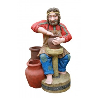 ГОНЧАР- Цветник два кашпо Садовая скульптура
