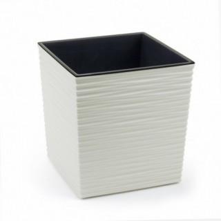 ГОРШОК ЮККА Белый Джуто с вкладышем 30*30 см.