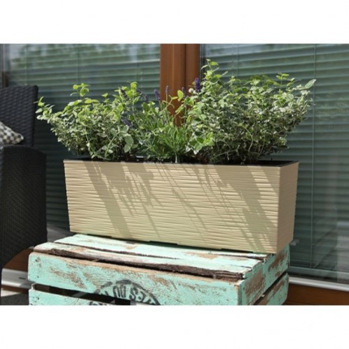 Begonia pot Beige jute with tab