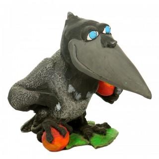 Садовая фигура Ворона с яблоком