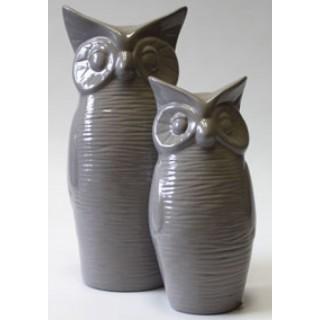Фигурка керамическая Сова Большая Серая F 2003 J 22