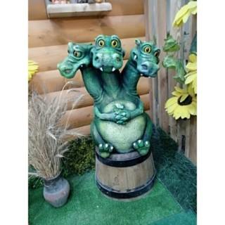 Садовая фигура Змей Горыныч зеленый
