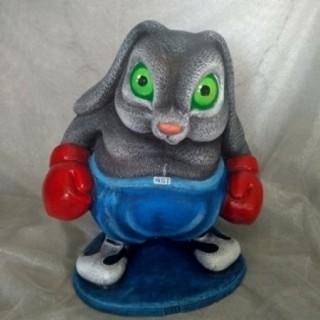 Садовая фигура Кролик боксёр