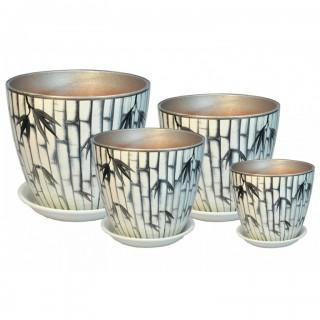 Комплект керамических горшков Бутон РС 34