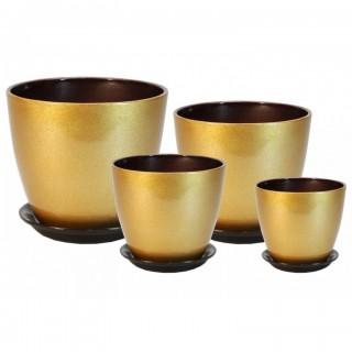 Комплект керамических горшков Бутон ГЛ 14