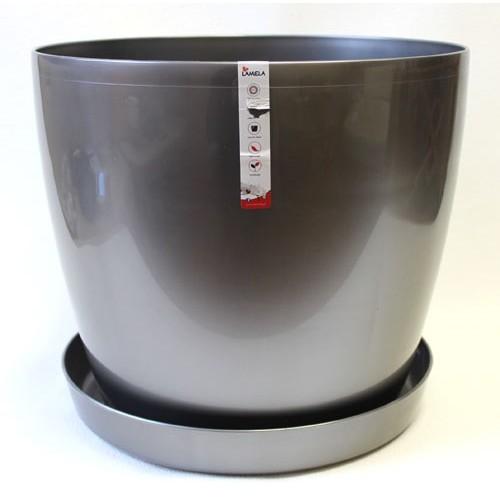 Pot Magnolia Gray Metallic
