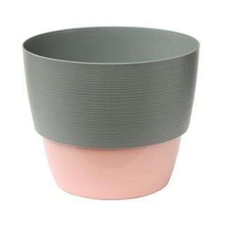 ВАЛЕНСИЯ Серый муссон + Розовый горшок с прикрепляемым поддоном V-2,5 л.